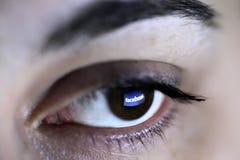 Facebook öga Royaltyfri Foto