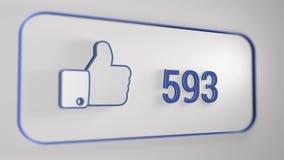 Facebook όπως τη ζωτικότητα απόθεμα βίντεο