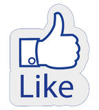 Facebook όπως Στοκ Εικόνες