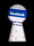 facebook выдает уединение Стоковые Изображения