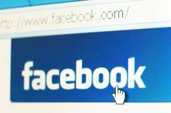 facebook знамени Стоковые Изображения RF