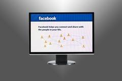 facebook компьютера стоковое фото rf