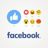 Facebook новое как кнопки иллюстрация вектора