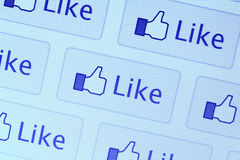 Facebook любит икона Стоковые Фотографии RF