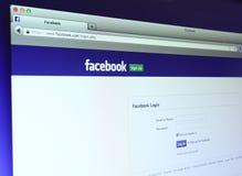 Facebook主要网页 库存图片