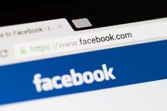 Facebook主页商标 免版税库存图片