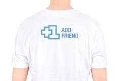Facebook +1 ajoutent l'ami Photos libres de droits