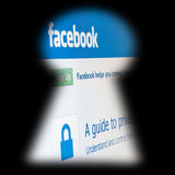 Facebook Fotografie Stock