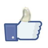 Facebook安全 图库摄影