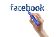 Facebook immagine stock