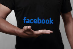 Facebook Fotografia Stock Libera da Diritti