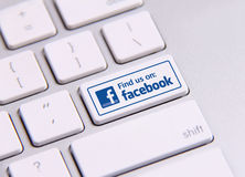 Facebook Imagem de Stock Royalty Free