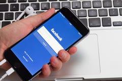 Facebook Fotografia Stock