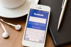 Facebook Photographie stock