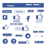 Facebook aiment Images stock