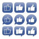 Facebook aiment la collection de vecteur d'icône illustration de vecteur