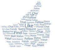 Facebook als royalty-vrije illustratie