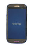 Facebook on Android device Stock Image