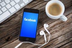 Facebook begrepp Fotografering för Bildbyråer