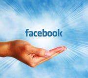 Facebook begrepp royaltyfri foto