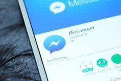 Facebook-boodschapper mobiele app Stock Afbeeldingen