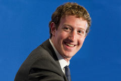 Facebook CEO Μαρκ Ζουκεμπερκ Στοκ Εικόνες