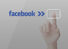 Facebook choisi illustration de vecteur