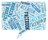 Facebook cloud. Cloud from words: Facebook Social Media Royalty Free Stock Photos