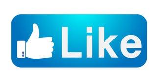 Facebook como o polegar do ícone acima das ilustrações da bandeira do vetor no fundo branco ilustração do vetor