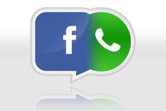 Facebook compra a ilustração de Whatsapp Imagem de Stock Royalty Free
