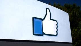 Facebook Corporate Headquarters campus in Silicon Valley stock video