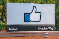 Facebook corporate office in California Stock Images