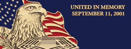 Facebook Cover United in Memory, September 11, 2001 stock photos