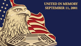 Facebook Cover United in Memory, September 11, 2001 stock photography
