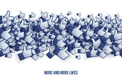 Facebook 3D als Handpictogrammen Art Illustration Royalty-vrije Stock Foto's