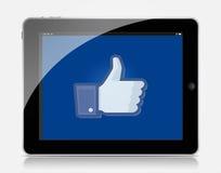 Facebook de Ipad Fotografía de archivo libre de regalías