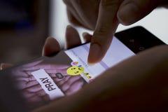 Facebook desarrolla cinco nuevos botones de las reacciones Foto de archivo