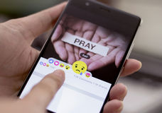 Facebook desenrola cinco botões novos das reações Fotografia de Stock Royalty Free
