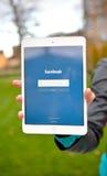 Facebook on digital tablet display Royalty Free Stock Photos