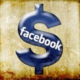 Facebook $ dollar sign social networking vector illustration