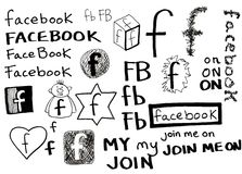 Facebook Doodle Royalty Free Stock Images