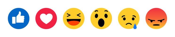 Free Facebook Emoji Icons Royalty Free Stock Images - 159539389