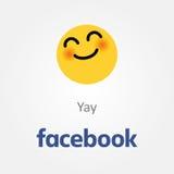Facebook emotion icon. Yay smiling emoji vector Royalty Free Stock Photo