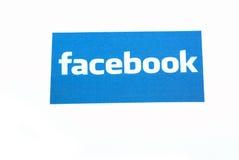 Facebook en Internet Fotos de archivo libres de regalías