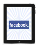 Facebook en Ipad stock de ilustración