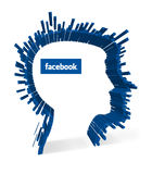 Facebook - Facial recognition stock illustration