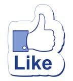 Facebook gosta Imagens de Stock Royalty Free