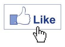 Facebook gosta Foto de Stock Royalty Free
