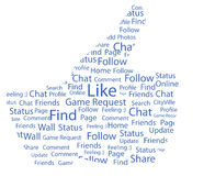 Facebook gosta Fotografia de Stock