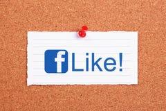 Facebook gosta Fotos de Stock Royalty Free